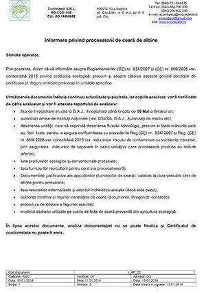 I-AP 02 Informare procesatori de ceara 15.01