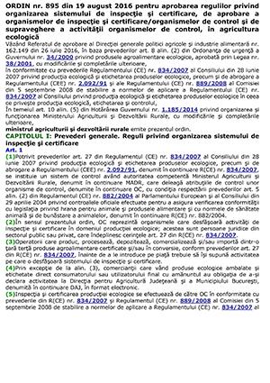 Ordin nr. 895 din 2016
