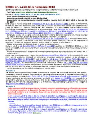 Ordinul 1253 din 2013 var. cons. 2019